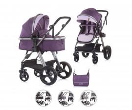 Комбинирана бебешка количка с трансформираща седалка до 22кг Chipolino Хавана, асортимент