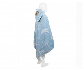 Бебешка кърпа с качулка Колички, светло синя, 0-2 г. 31/00019180