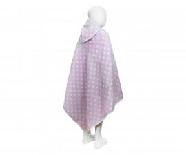 Бебешка кърпа с качулка Точки, розова, 0-2 г. 31/00019179