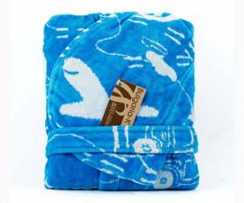 Детски халат за баня Колички, син, асортимент 31/00019174