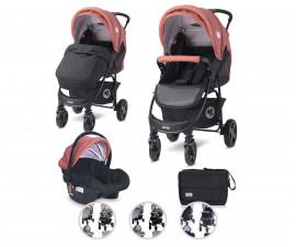 Комбинирана бебешка количка с обръщаща се седалка за деца до 22кг Lorelli Daisy Basic Set, асортимент 1002164