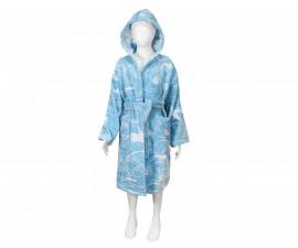 Детски халат за баня Колички, светло син, асортимент 31/00019174