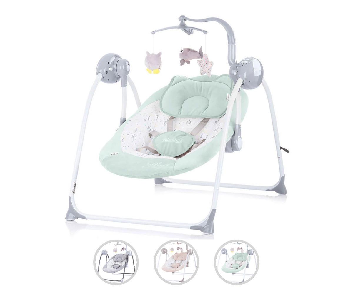 Електрическа бебешка люлка за новородено до 9 кг Chipolino Гуш-гуш, асортимент