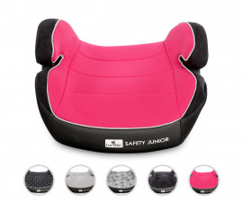 1007133 - Детски стол за кола Лорели Safety Junior Fix, розова 15-36 кг.