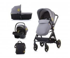 Комбинирана детска количка до 22кг Chipolino Елит 3в1, асфалт