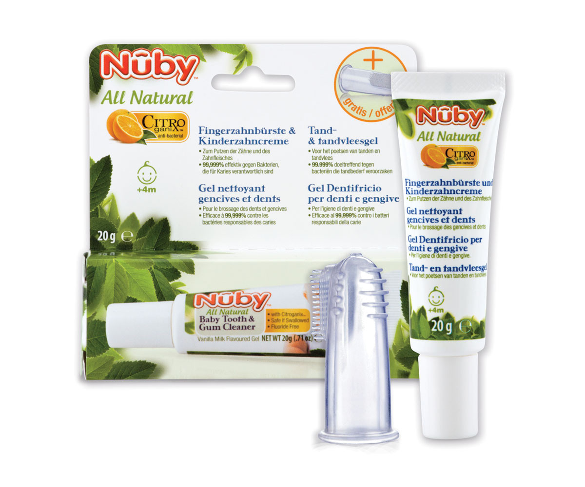 Пасти за зъби и гелове Nuby Citroganix CG67575DUFRGEIT