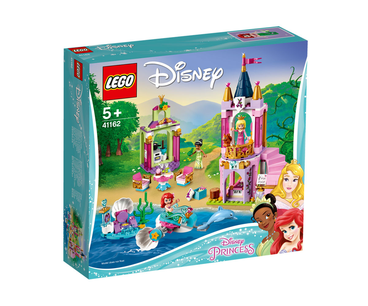 Конструктор ЛЕГО Дисни Принцеси 41162 - Кралското празненство на Ариел, Аврора и Тиана