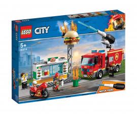 Конструктор ЛЕГО City 60214 - Спасителна акция от пожар в бургер бар
