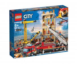 Конструктор ЛЕГО City 60216 - Пожарна команда в центъра