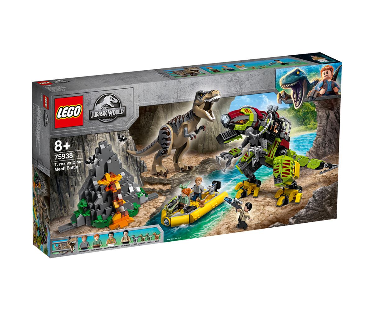 Конструктор ЛЕГО Jurassic World 75938 - Битка между тиранозавър и динозавър-робот