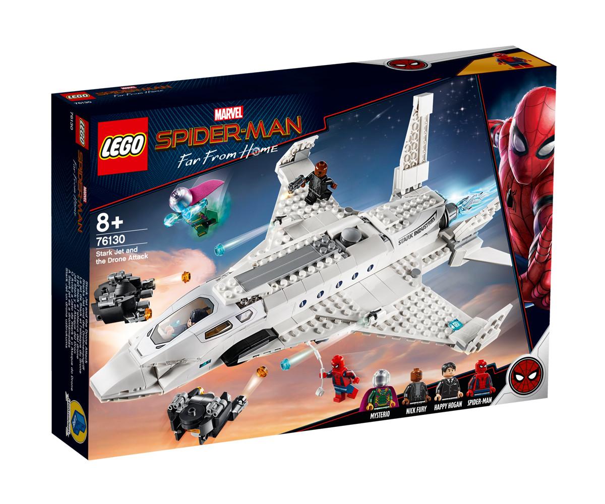 Конструктор ЛЕГО DC Comics Super Heroes 76130 - Stark Jet и нападение с дрон