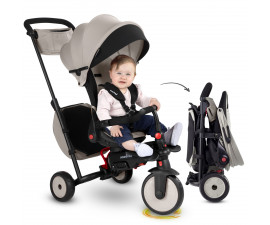 детска сгъваема триколка с родителски контрол smartFold STR7 J, сив цвят 5503114