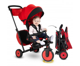 детска сгъваема триколка с родителски контрол smartFold 700 J, червена 5502212