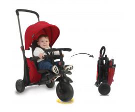 детска сгъваема триколка с родителски контрол smartFold 400, червена 5000000