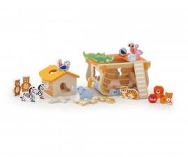 Sevi 88015 - Детска дървена играчка за сортиране Ноев ковчег