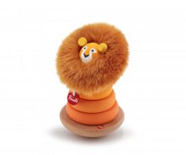 Sevi 88009 - Детска дървена играчка Магнитни рингове, Лъв