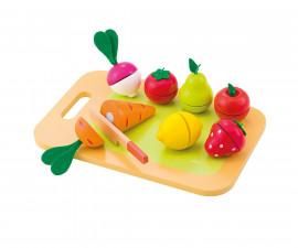 Sevi 82320 - Детска дървена играчка Дъска за рязане на плодове и зеленчуци