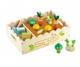 Sevi 83072 - Детска дървена играчка Комплект зеленчукова градина