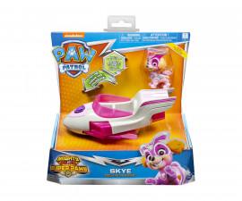 Детска играчка на тема Пес Патрул - Скай с превозно средство делукс