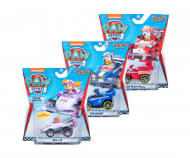 Пес Патрул играчки - Състезателни метални колички, асортимент