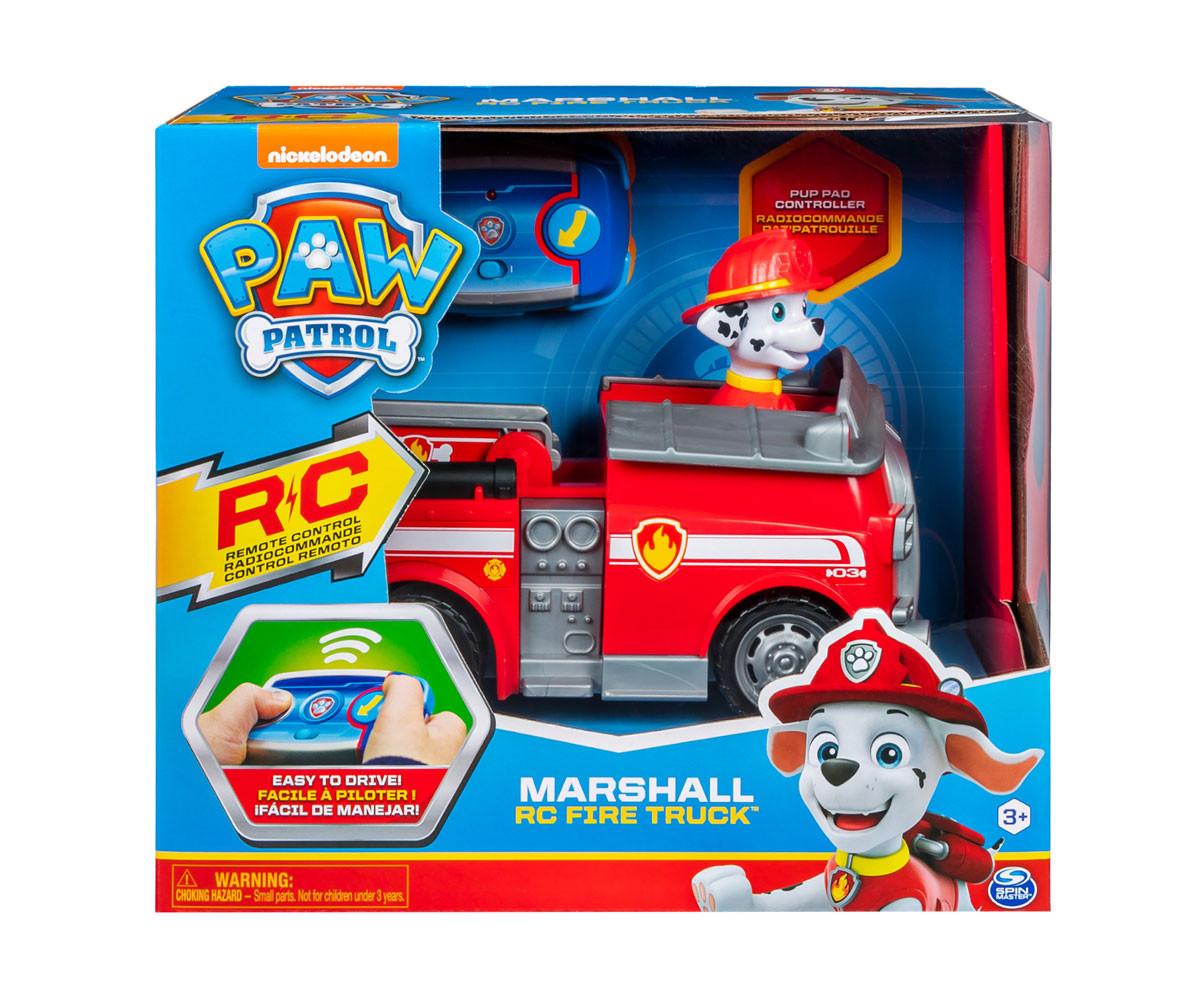Пес Патрул играчки - Пожарникарския камион на Маршал с дистанционно
