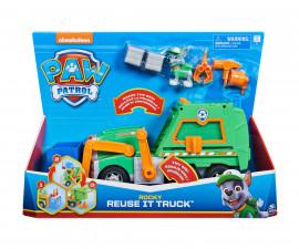 Играчка за деца Пес Патрул - Kамион за рециклиране на Роки Spin Master 6058512