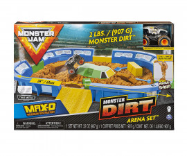 Детска играчка Монстър Джам - Арена с кинетичен пясък
