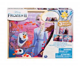 Дървен пъзел за деца 3х24 ел. Frozen 2