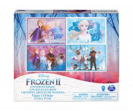 Детски комплект 4 дървени пъзели Frozen 2