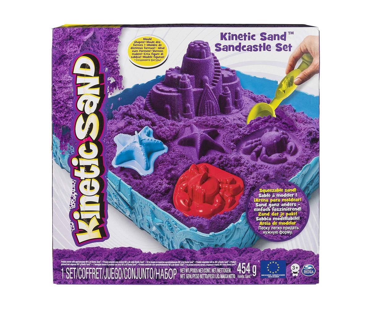 Детска играчка с несъхнещ пясък Kinetic Sand - Пясъчен замък - асортимент
