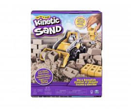 Детска играчка с несъхнещ пясък Kinetic Sand - строителен камион