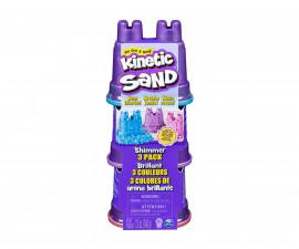 Детска играчка с несъхнещ пясък Kinetic Sand - Блясък 3 броя