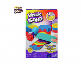Детска играчка с несъхнещ пясък Kinetic Sand - Набор от инструменти на дъгата