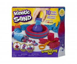 Детска играчка с несъхнещ пясък Kinetic Sand - Комплект с мега аксесоари