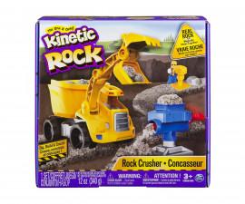 Детска играчка с несъхнещ пясък Kinetic Sand - Комплект пясък със строителна машина