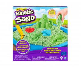 Детски несъхнещ кинетичен пясък за игра Пясъчник със зелен пясък