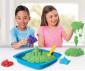 Детски несъхнещ кинетичен пясък за игра Пясъчник със зелен пясък thumb 3