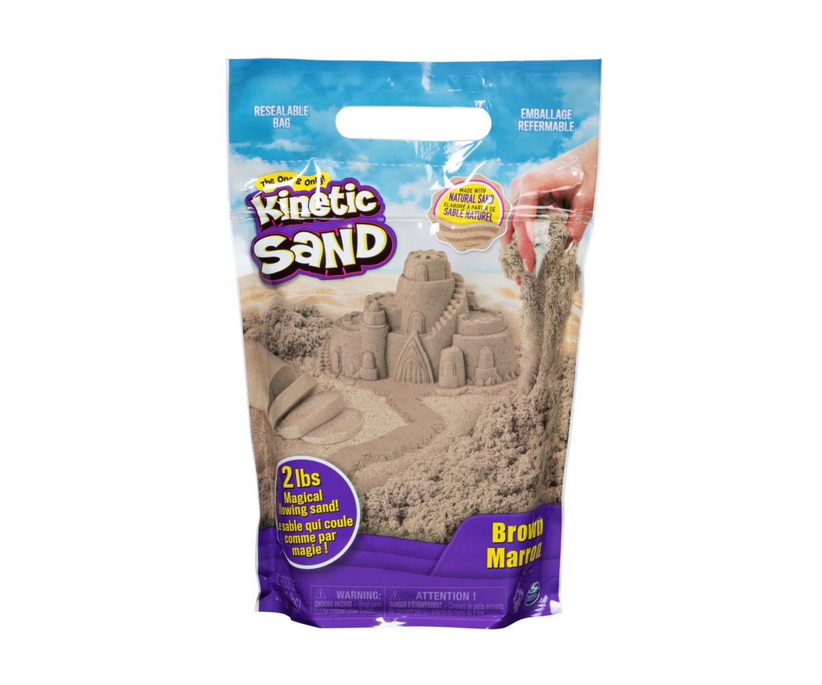 Детски несъхнещ кинетичен пясък за игра Пликче, кафяв цвят