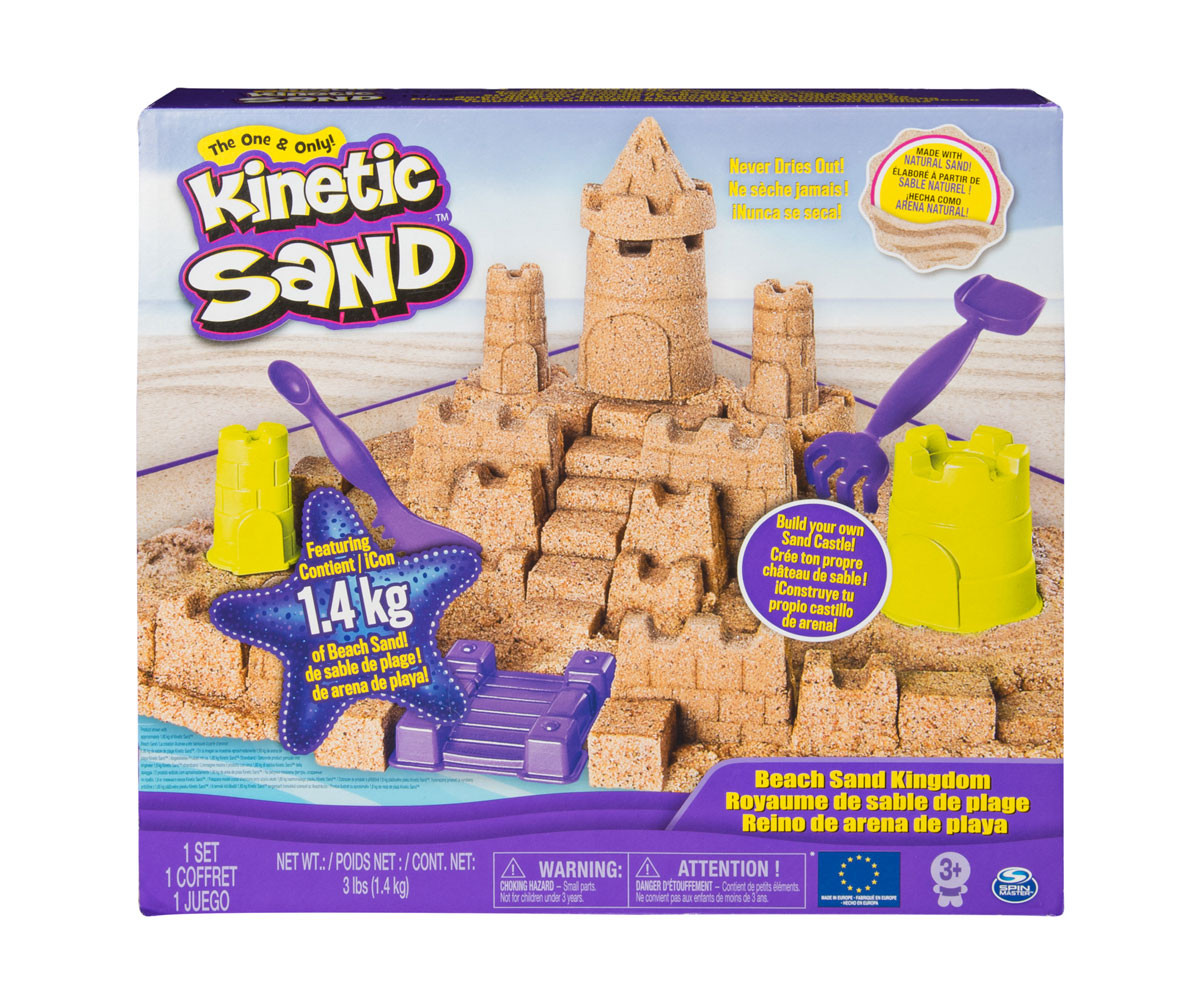 Детски несъхнещ кинетичен пясък за игра Комплект пясъчен замък