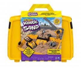 Детски несъхнещ кинетичен пясък за игра Строителна кутия