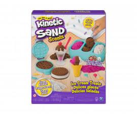 Детски несъхнещ кинетичен пясък за игра Комплект за сладолед, с аромат