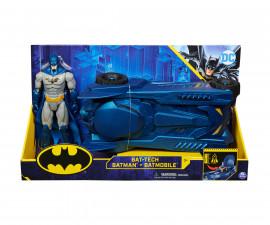 Играчка за деца Батман - Батмобил с фигура, 30см Spin Master 6058417