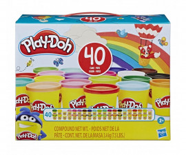 Детска играчка за моделиране Hasbro E9413 Play Doh - Комплект 40 кенчета, различни цветове