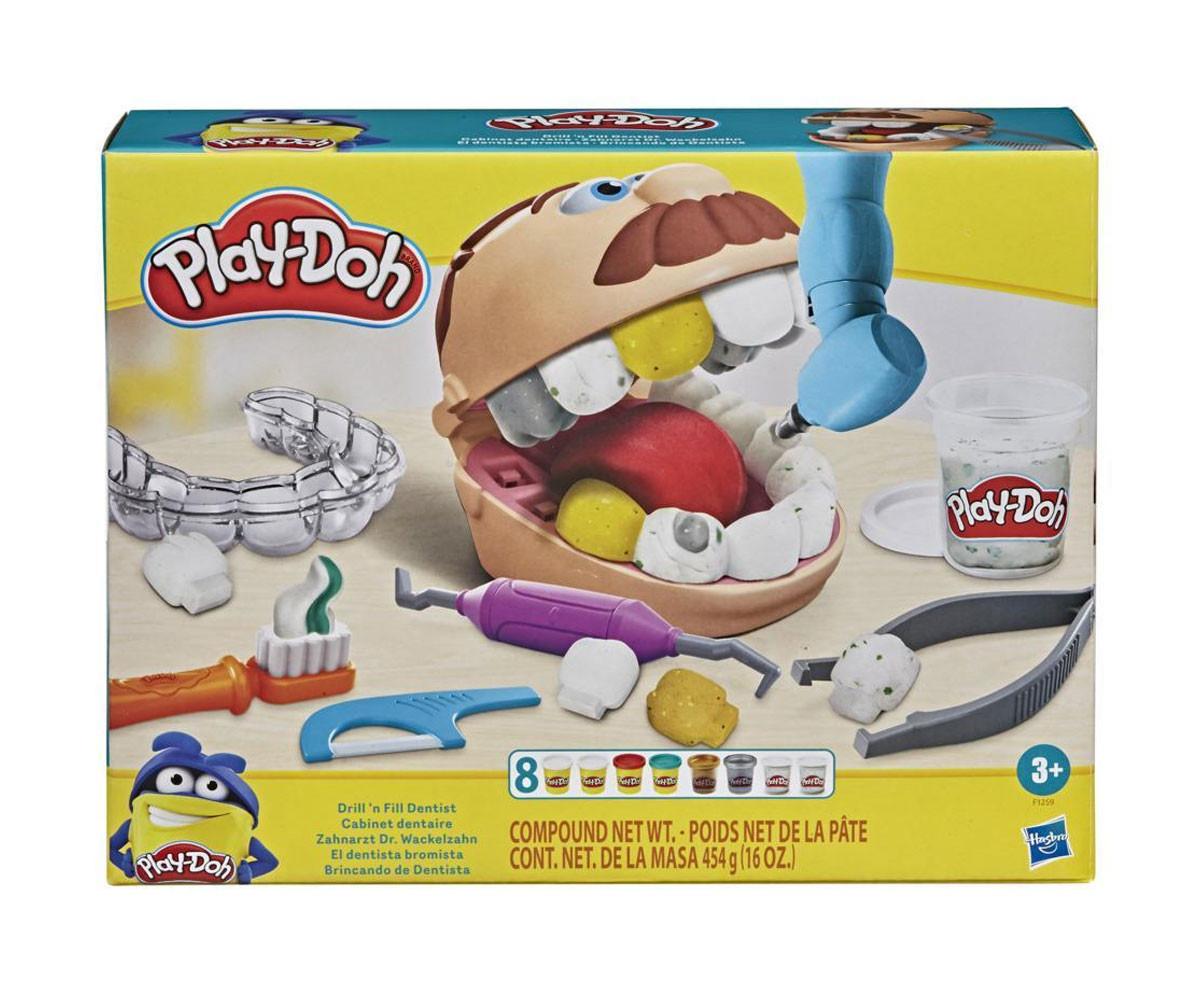 Детска играчка за моделиране Hasbro F1259 Play Doh - Игрален комплект: зъболекар