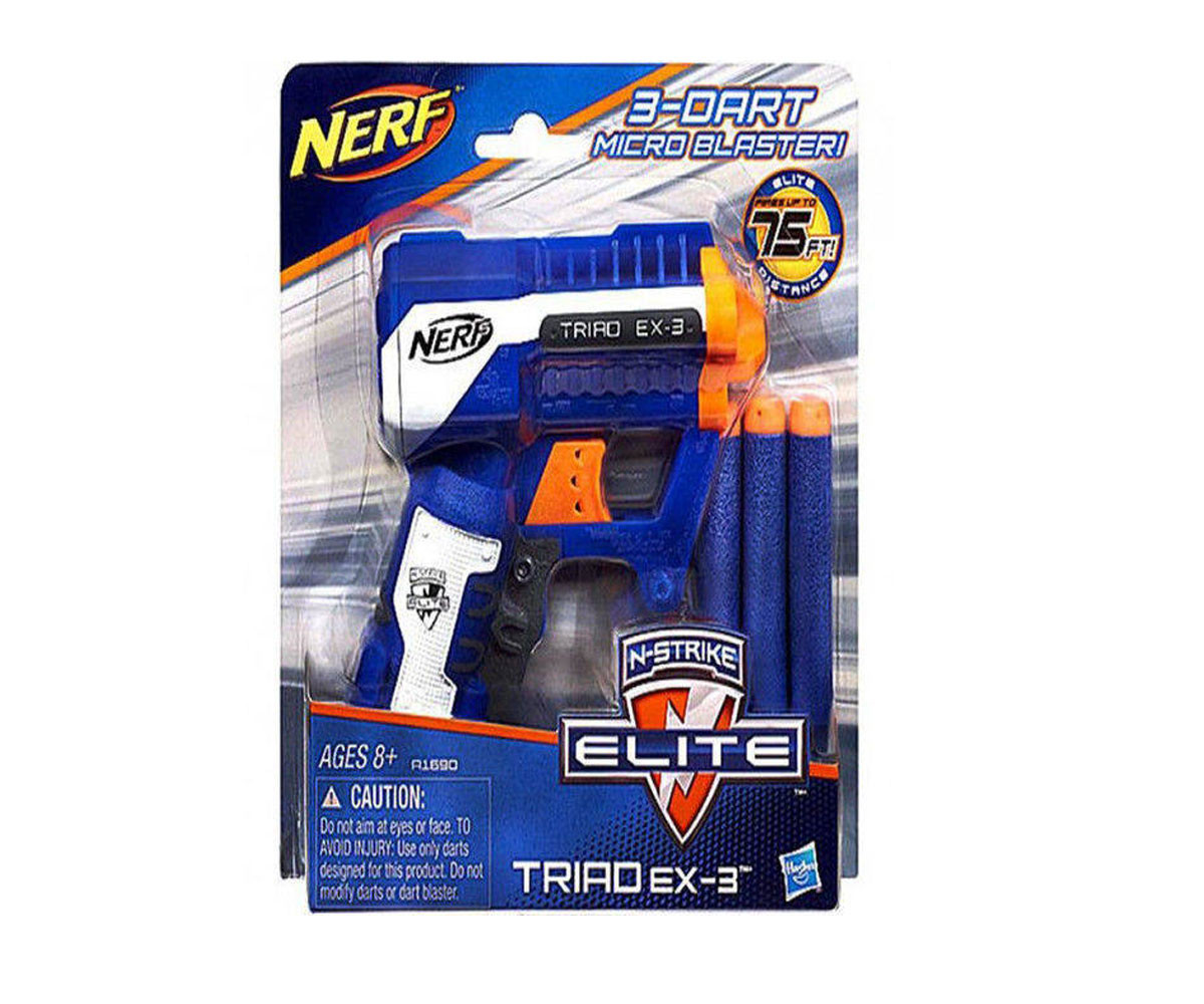 Детски пистолет Нърф - N-strike Elite триад х-3 Hasbro Nerf A1690