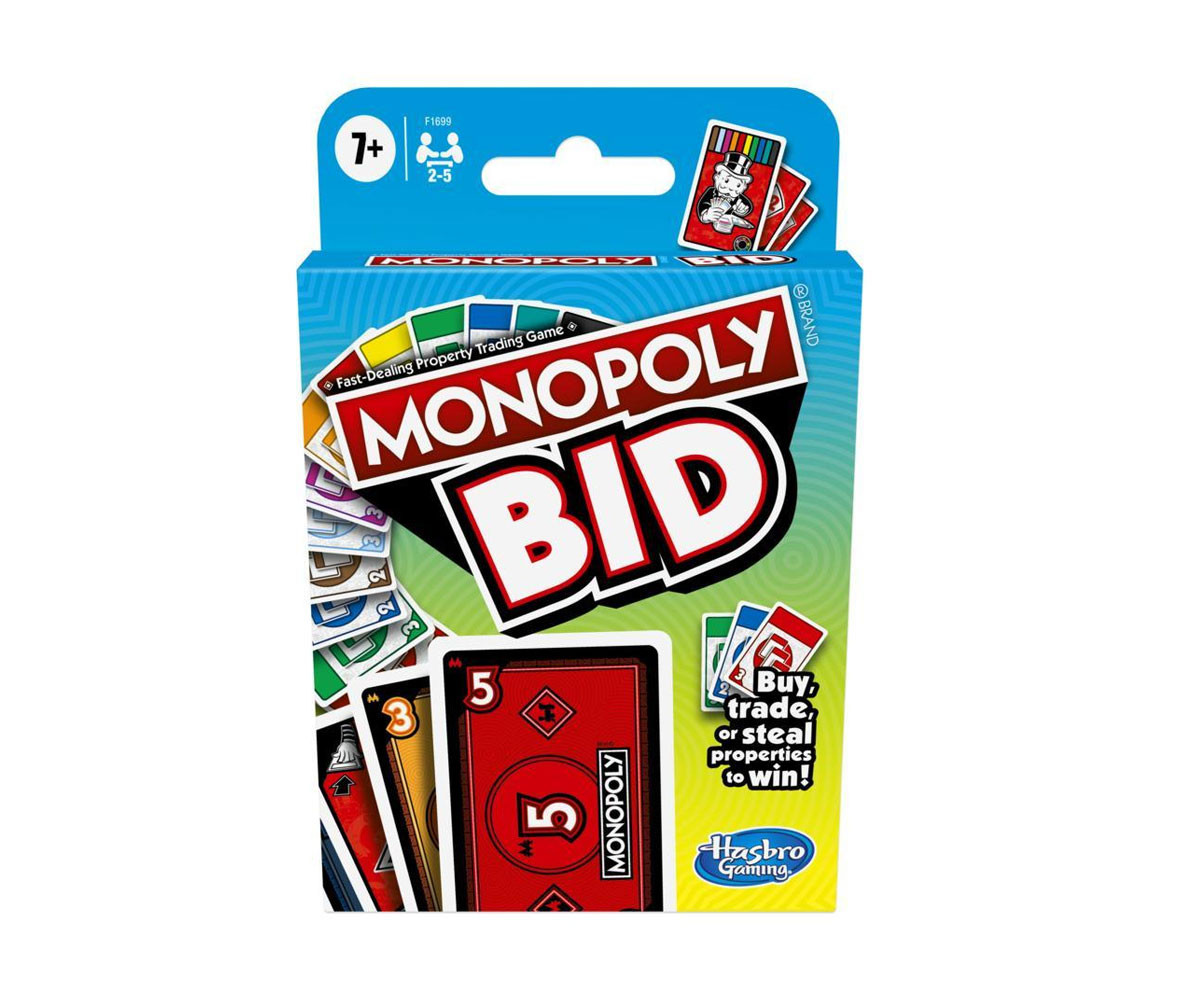 Семейна игра с карти: Монополи Наддаване Hasbro F1699