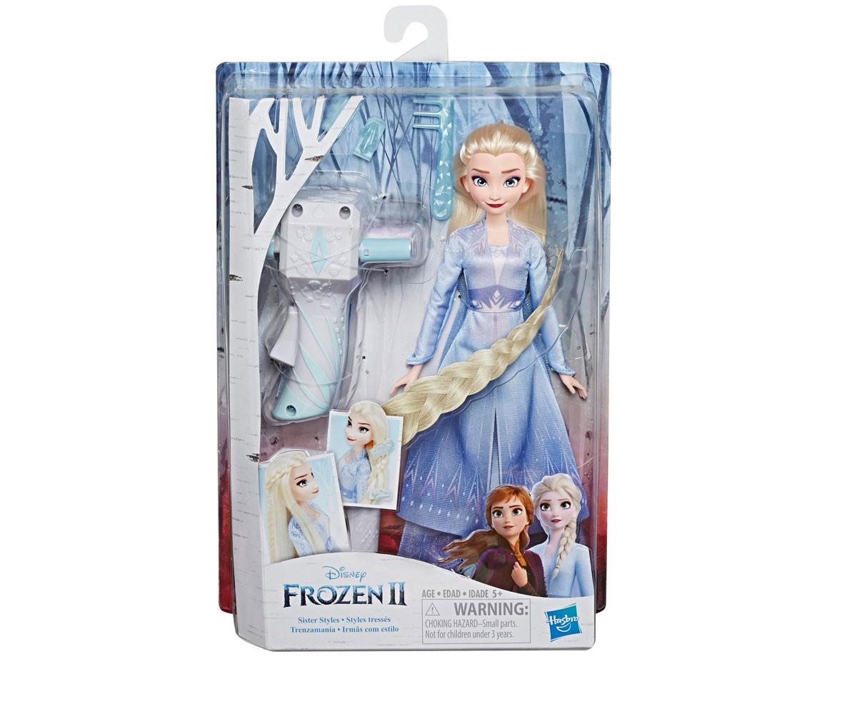 Играчки за момичета кукли Frozen 2 - Елза с аксесоари за игра с коса Hasbro E7002