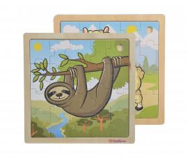 Детски дървен пъзел Eichhorn, с животни