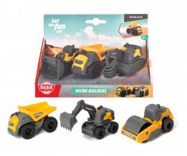 Микро строителни машини Volvo Дики, 2 вида, Dickie Toys 203722009