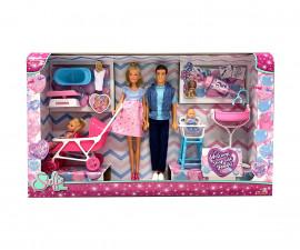 Кукла Steffi Love, Simba Toys 105733426 - Бременната Стефи със семейството си